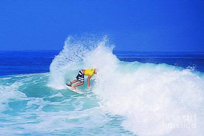 Pro Surfer Nathan Hedge-2 Poster by Scott Cameron