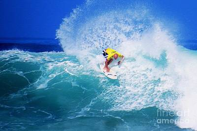 Pro Surfer-nathan Hedge-3 Poster by Scott Cameron