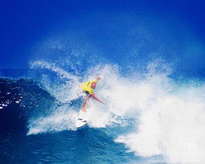Pro Surfer Nathan Hedge-6 Poster by Scott Cameron