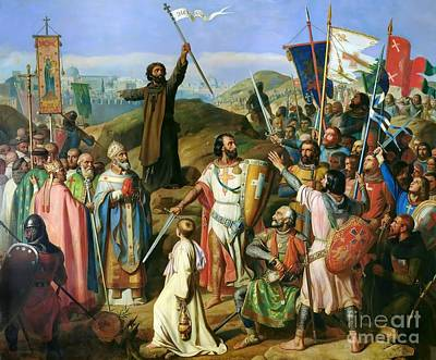 Procession Of Crusaders Around Jerusalem  Poster
