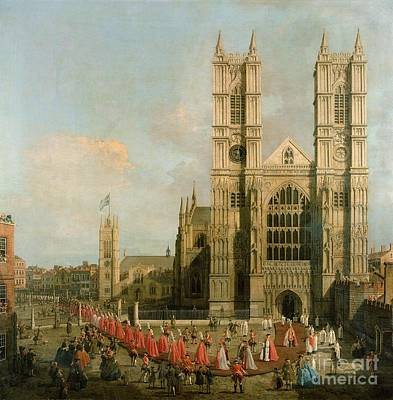 Procession Of The Knights Of The Bath Poster by Canaletto