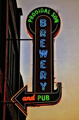 Prodigal Son Brewery And Pub Neon Poster by Image Takers Photography LLC - Laura Morgan