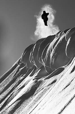 Professional Snowboarder, Marko Grilc Poster by Dean Blotto Gray