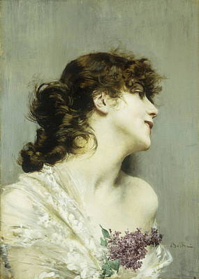 Profile Of A Young Woman Poster