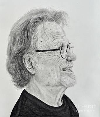 Profile Portrait Of Kris Kristofferson Poster by Jim Fitzpatrick