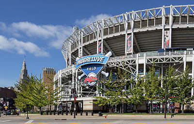 Poster featuring the photograph Progressive Field In Cleveland Ohio by Dale Kincaid