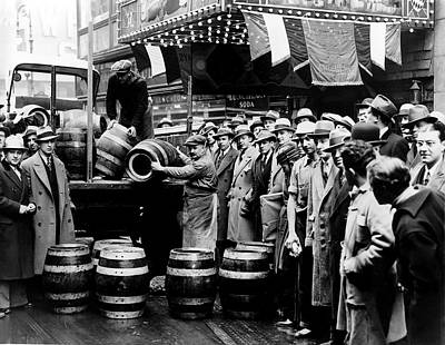 Prohibition Ends - Beer Is Delivered - New York 1933 Poster