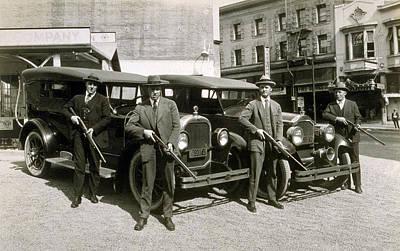 Prohibition Era Tough Men Poster by Daniel Hagerman