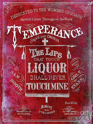 Prohibition Lips Red Poster by Jon Neidert