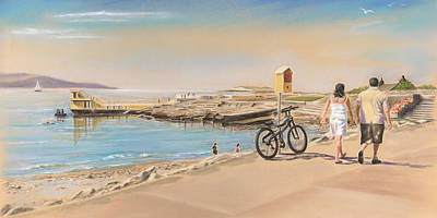 Promenade At Salthill Galway Poster