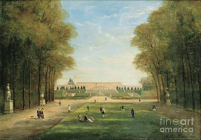Promenade In The Versailles Park Poster by MotionAge Designs