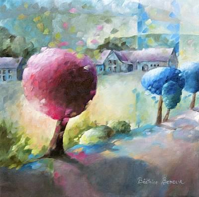 Promenade Sur Le Chemin Poster by Beatrice BEDEUR