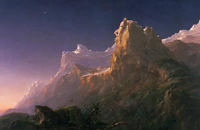 Prometheus Bound  Poster by Thomas Cole