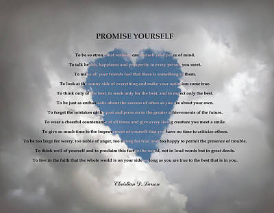Promise Yourself Poster