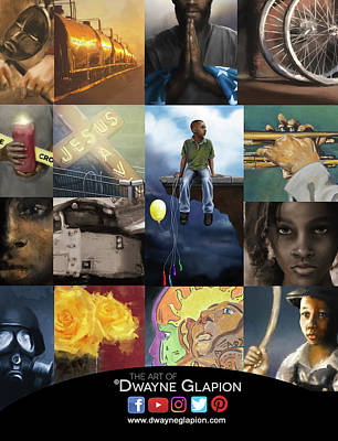 Poster featuring the digital art Promotional 01 by Dwayne Glapion