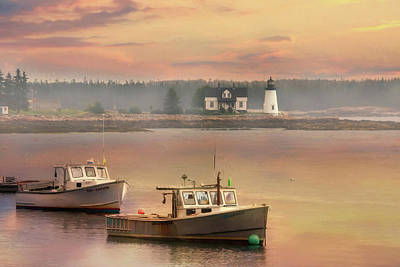 Prospect Harbor Lighthouse Poster by Lori Deiter