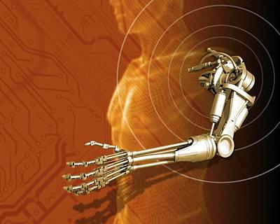 Prosthetic Robotic Arm, Computer Artwork Poster