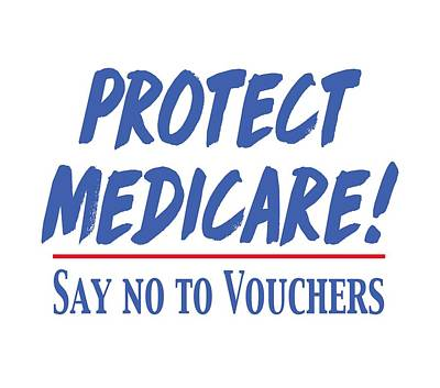 Poster featuring the drawing Protect Medicare by Heidi Hermes