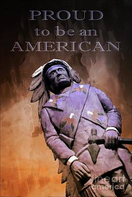 Proud To Be An American Poster by Bob Pardue