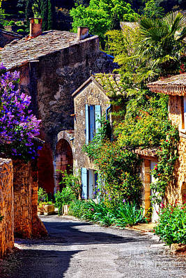 Provence Village Street In Spring Poster by Olivier Le Queinec