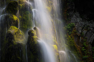 Proxy Falls Textures And Light Poster by Leland D Howard