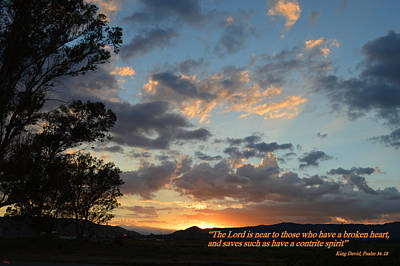Poster featuring the photograph Psalm 34 Eighteen by Glenn McCarthy