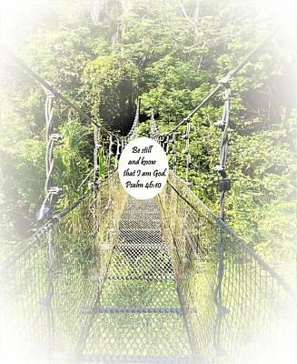 Psalm 46 10 Poster by Eloise Schneider