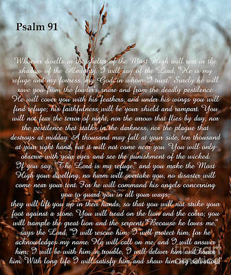 Psalm 91 Poster