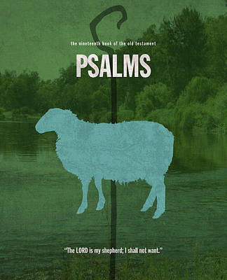 Psalms Books Of The Bible Series Old Testament Minimal Poster Art Number 19 Poster by Design Turnpike