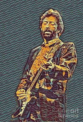 Psychedelic Clapton  Poster