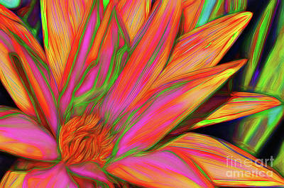 Poster featuring the photograph Psychedelic Daisy By Kaye Menner by Kaye Menner