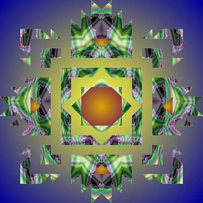 Psychedelic Mandala 002 A Poster