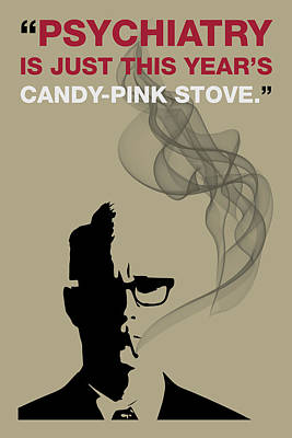 Psychiatry - Mad Men Poster Roger Sterling Quote Poster