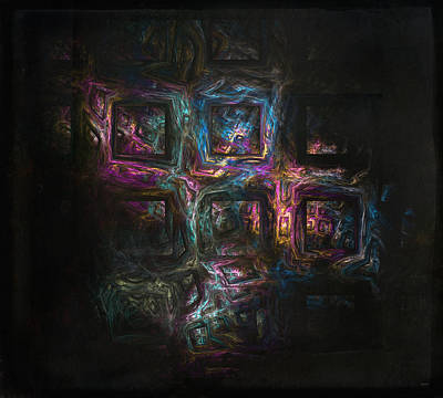 Psycho-delic Cubes Poster