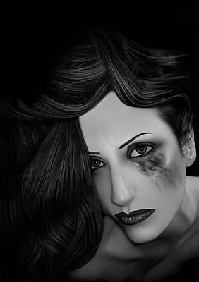 Ptsd Overload - Self Portrait Poster by Jaeda DeWalt