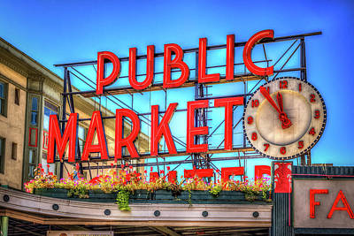 Poster featuring the photograph Public Market At Noon by Spencer McDonald