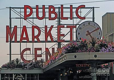 Public Market Poster by Chris Anderson