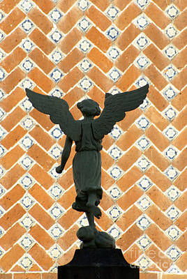 Poster featuring the photograph Puebla Angel Mexico by John  Mitchell