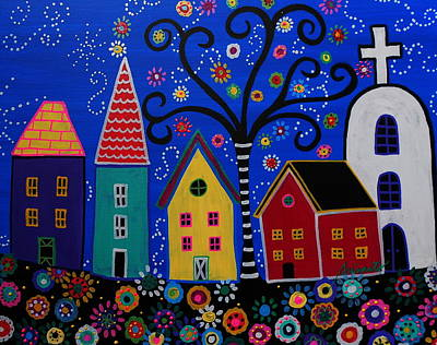 Pueblo I Painting Poster by Pristine Cartera Turkus