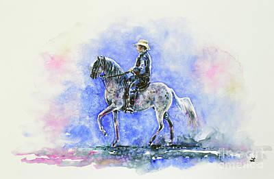 Puerto Rican Paso Fino Rider Poster by Zaira Dzhaubaeva