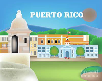 San Juan Puerto Rico Horizontal Scene Poster