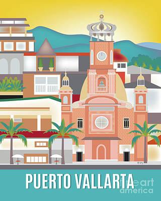 Puerto Vallarta Mexico Vertical Scene Poster