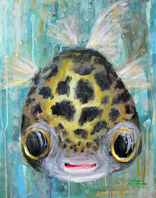 Puffy Underwater Poster