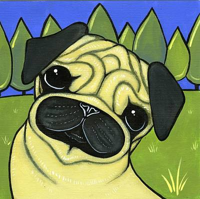 Pug Poster by Leanne Wilkes