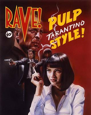 Pulp Fiction Poster by Timothy Scoggins