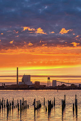 Poster featuring the photograph Pulp Mill Sunset by Greg Nyquist