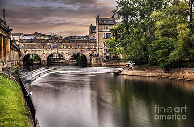 Pulteney Bridge In Bath Poster by Sandra Cockayne