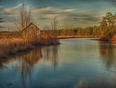Pump House On The Mullica River Poster by Louis Dallara