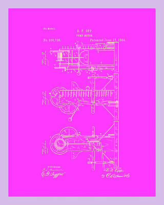 Pump Motor Patent Drawing 1c Poster by Brian Reaves