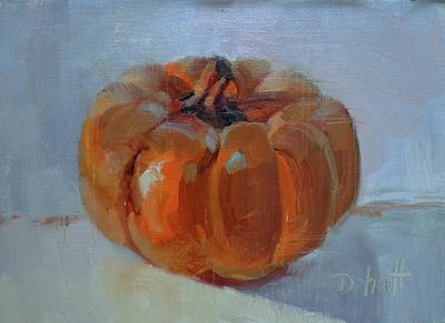Pumpkin Alone  Poster by Donna Shortt